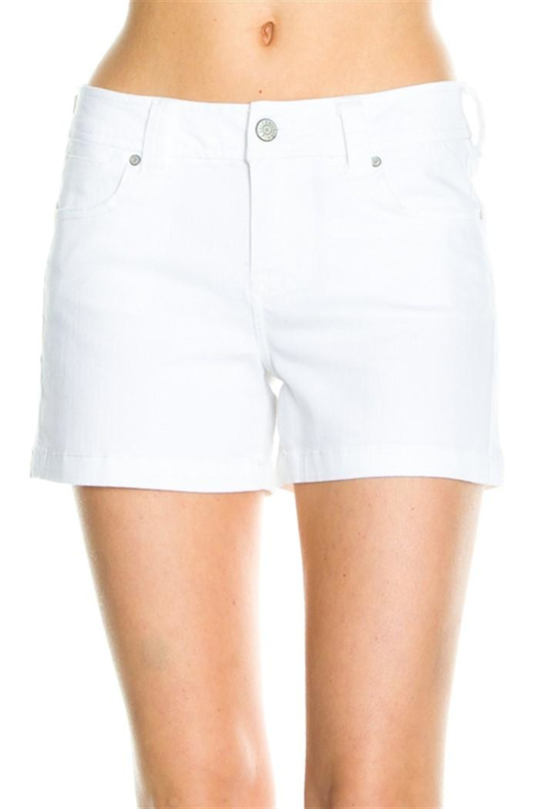 Cello Mid Rise Shorts - Front Cropped Image