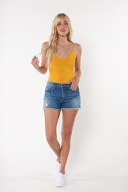 Sneak Peek Mid Rise Shorts with Frayed Hem and Distressing - Product Mini Image