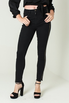 Funky Soul Mid rise side detail jeans - Product List Image