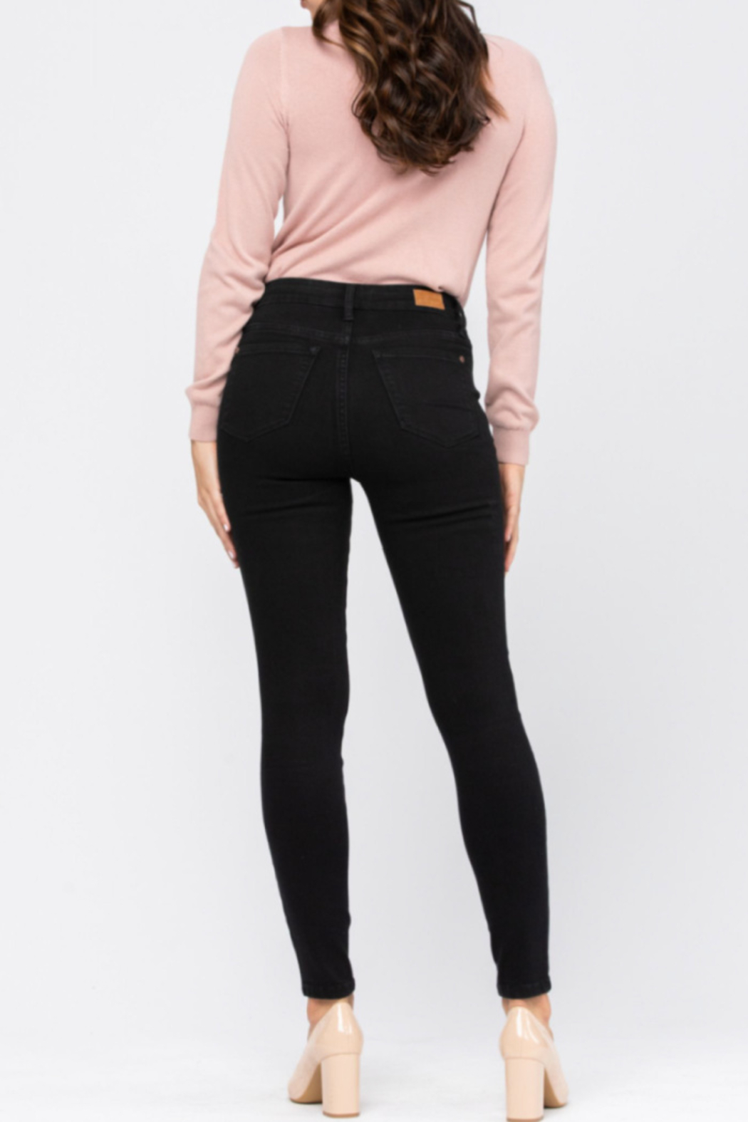 Judy Blue Mid-Rise Skinny - Front Full Image