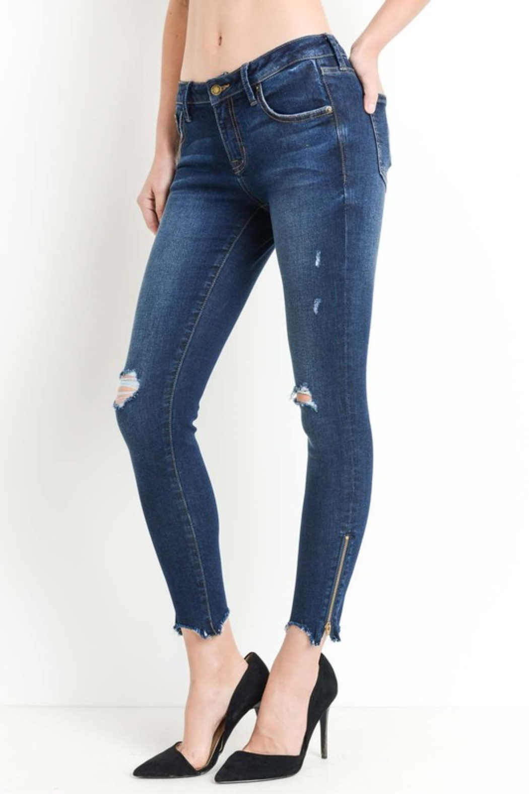 Just Mid Rise Skinny - Front Full Image