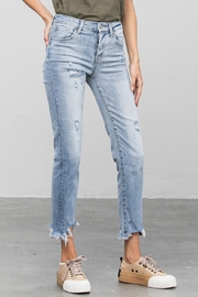 denim lab USA Mid-Rise Straight Jean - Front cropped