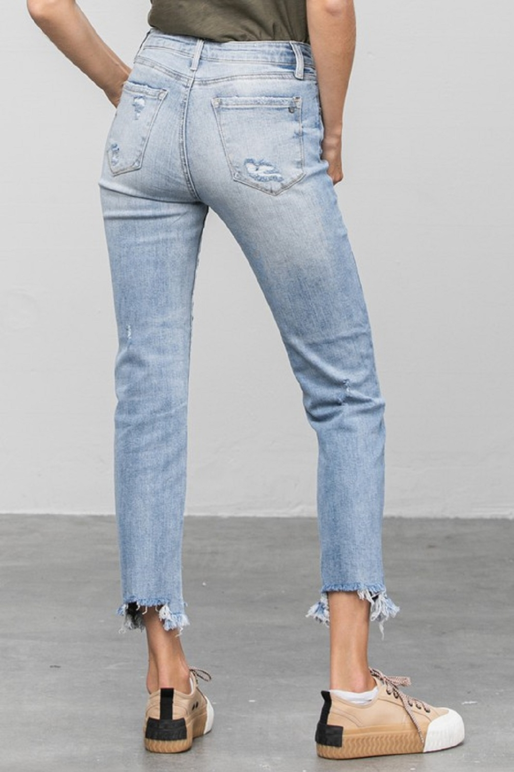 denim lab USA Mid-Rise Straight Jean - Side Cropped Image