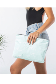 Aloha Collection Mid Seaside Pouch in LeMU Blue - Front full body