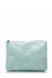 Aloha Collection Mid Seaside Pouch in LeMU Blue - Front cropped
