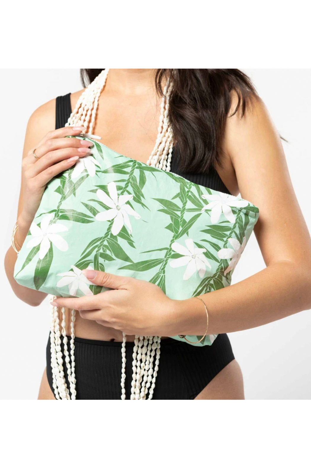 Aloha Collection Mid Tiare Ti Pouch - Front Cropped Image