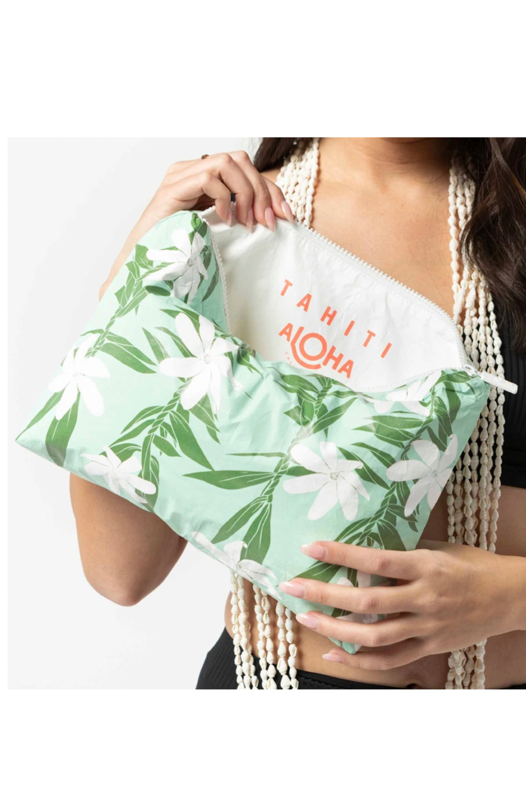 Aloha Collection Mid Tiare Ti Pouch - Side Cropped Image