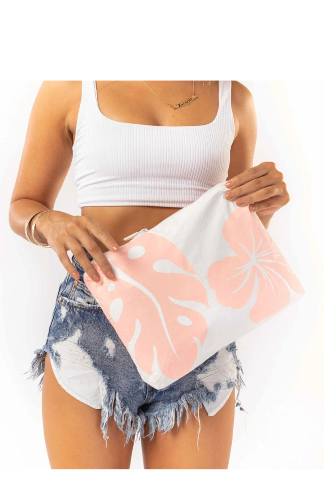 Aloha Collection Mid Waipio Pouch - Front Cropped Image