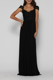 Jadore Middleton Gown Black - Product Mini Image
