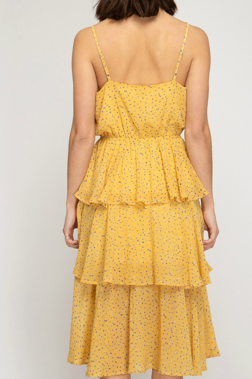 She and Sky Midi layered dress - Side Cropped Image