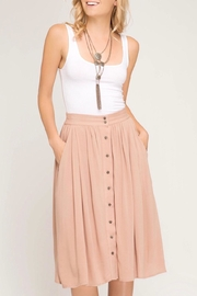 LuLu's Boutique Midi Skirt - Front cropped