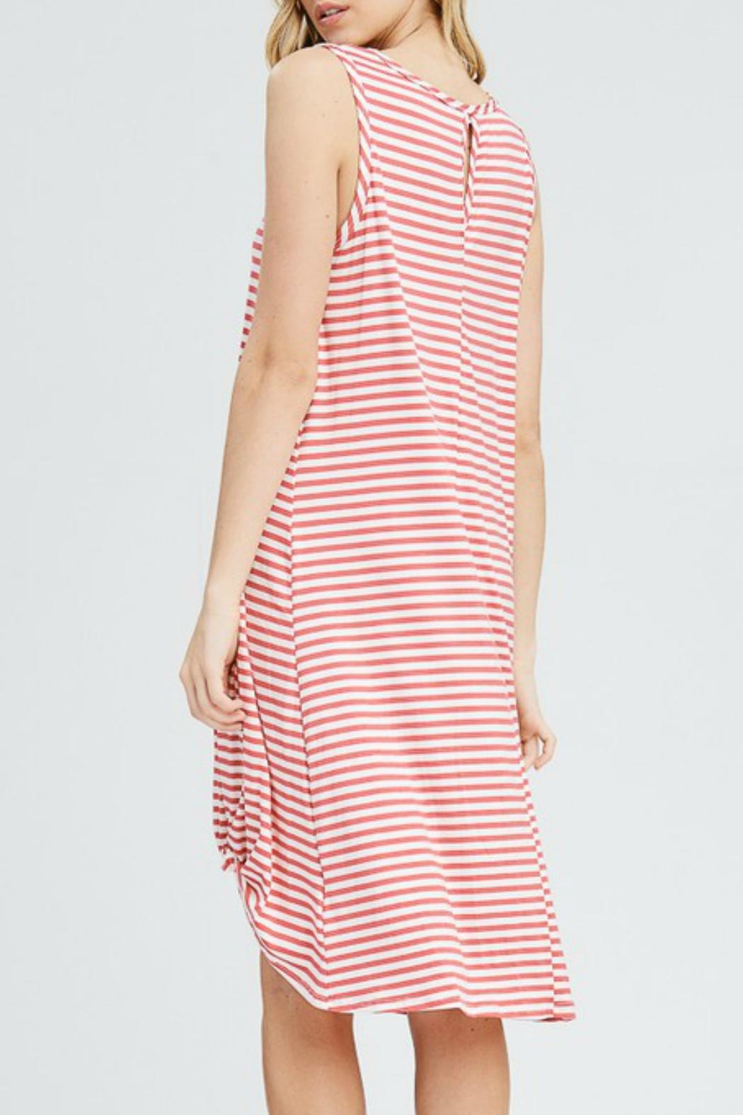 ee:some Midi Striped Dress - Front Full Image