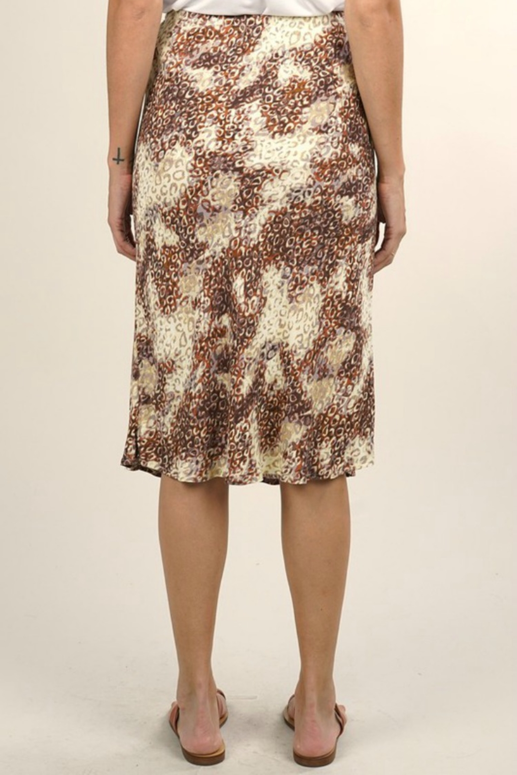 Lovestitch MIDI WATERCOLOR SKIRT - Side Cropped Image