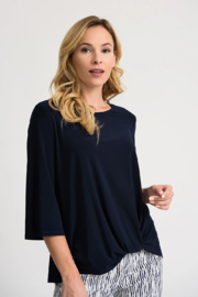 Joseph Ribkoff  Midnight blue knotted tee - Product Mini Image