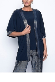 Frank Lyman Midnight Blue Sequin Cover Up Top - Product Mini Image