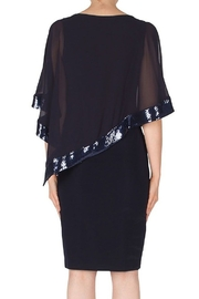 Joseph Ribkoff  MIdnight Blue Sheer Layered Sequins Dress - Product Mini Image