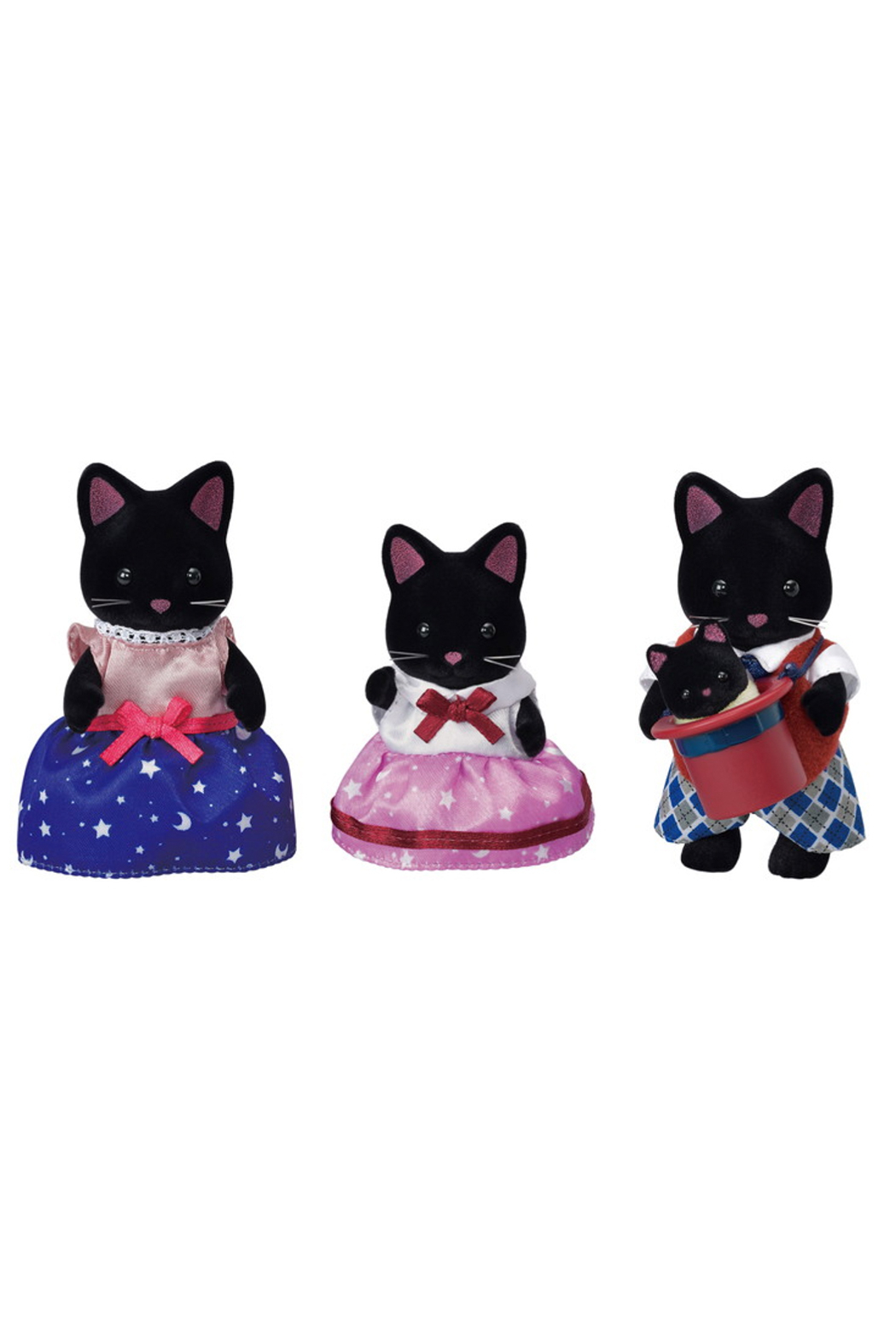 Calico Critters Midnight Cat Family - Main Image