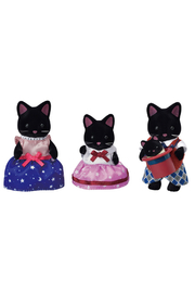 Calico Critters Midnight Cat Family - Front cropped
