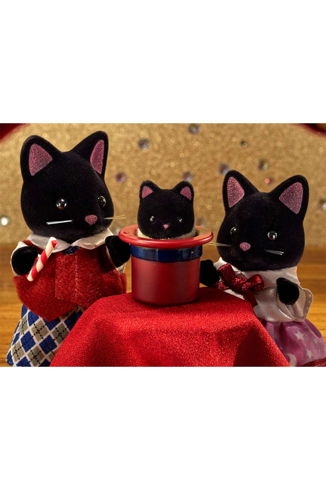 Calico Critters Midnight Cat Family - Front Full Image