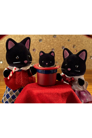 Calico Critters Midnight Cat Family - Front full body