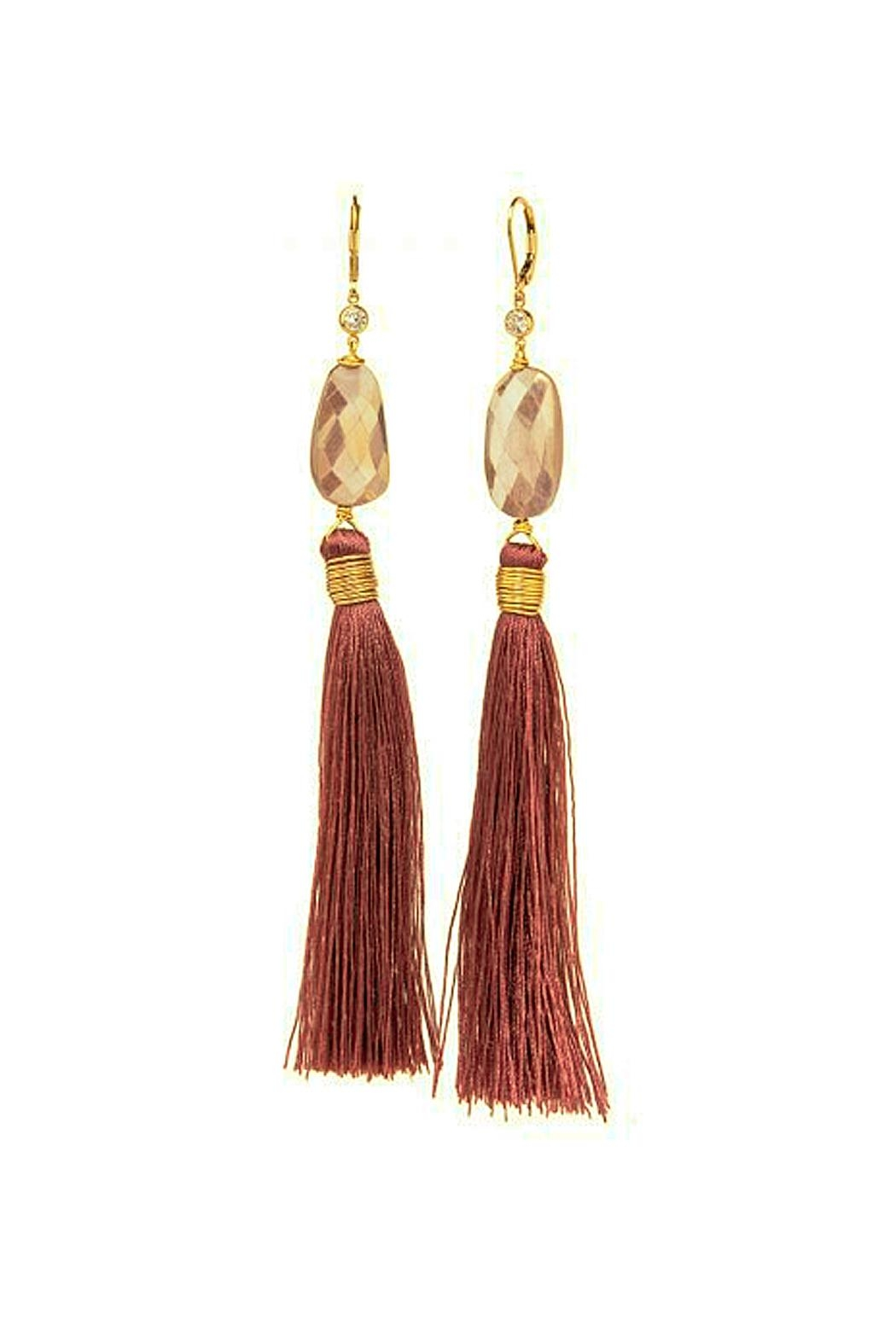 Taylor and Tessier Midnight Fringe Earrings - Main Image