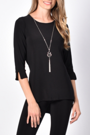 Frank Lyman  Midnight Knit Top - Product Mini Image