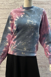 Vintage Havana Midnight Magenta Galaxy Tie Dye Mock neck - Product Mini Image