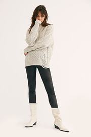 Free People Midnight Vegan Suede Skinny Pant - Product Mini Image