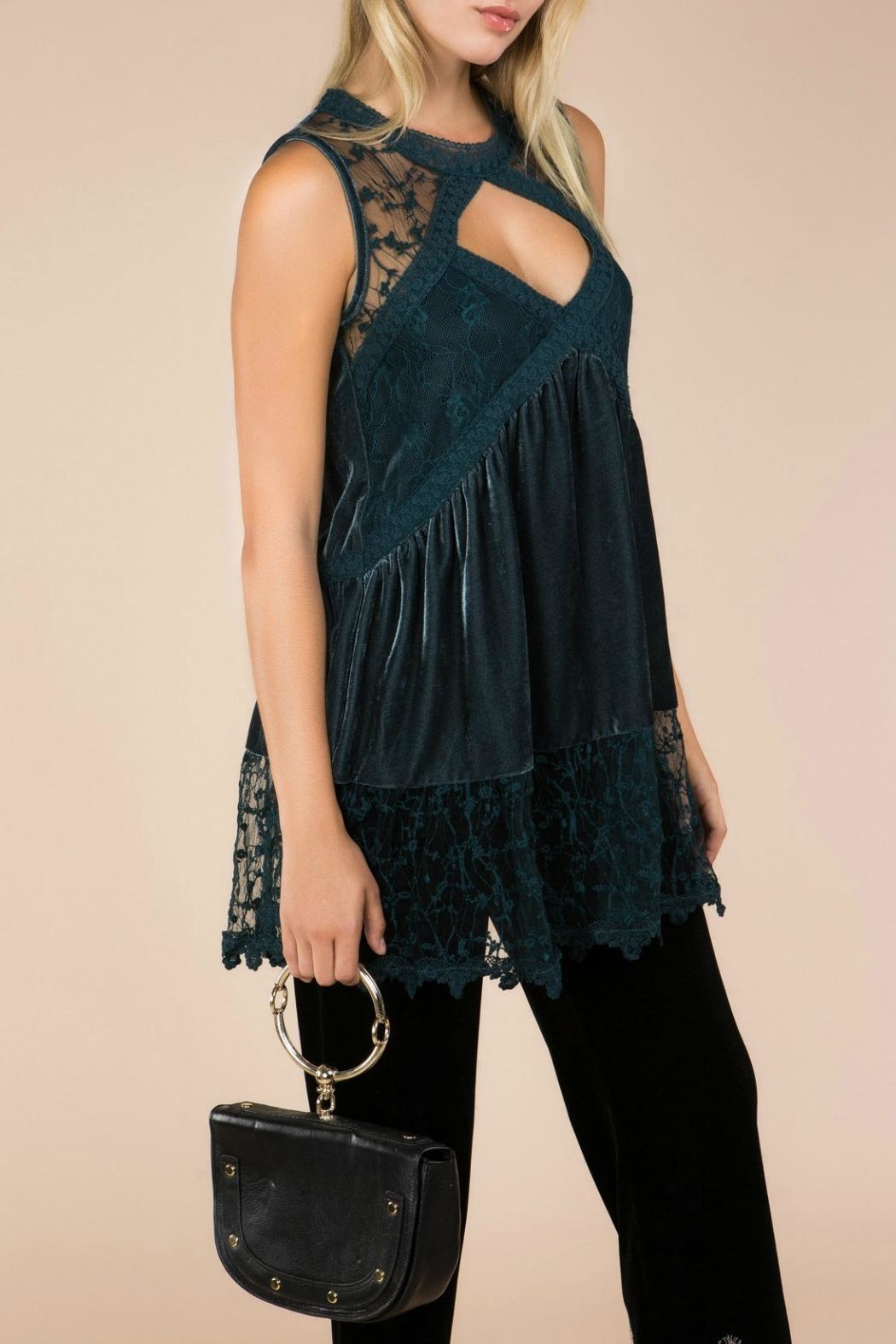 MHGS Midnight Velvet Tunic - Front Cropped Image