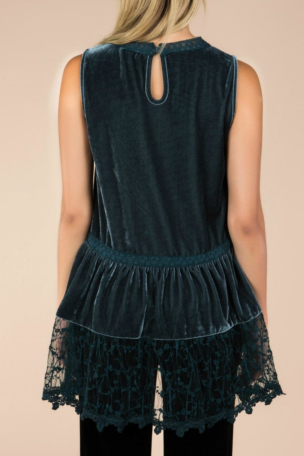 MHGS Midnight Velvet Tunic - Back Cropped Image