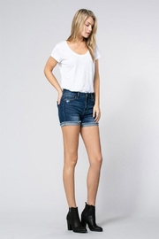 Klique B Midrise Cuff Shorts - Front full body