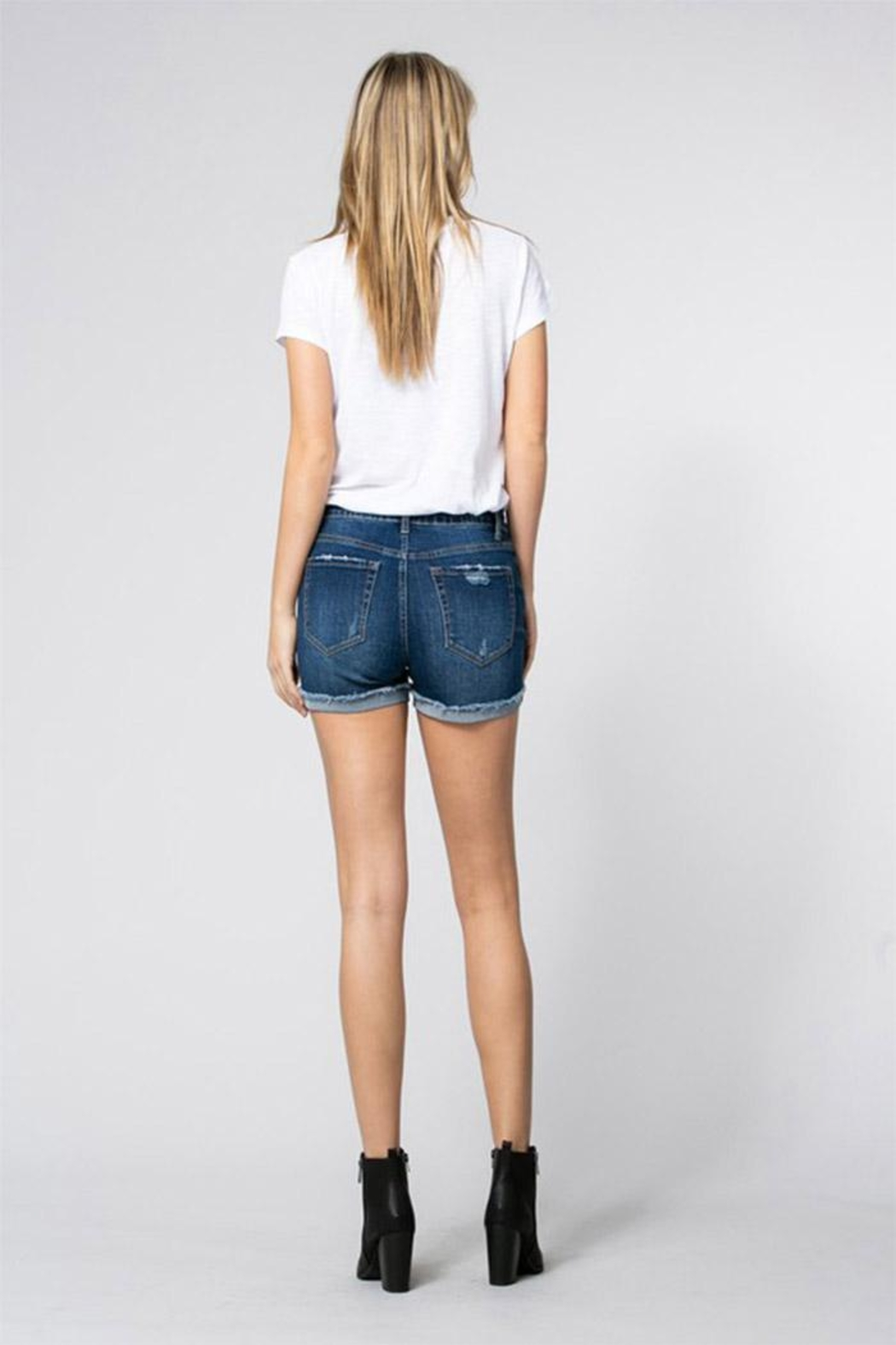 Klique B Midrise Cuff Shorts - Back Cropped Image