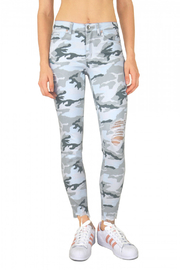Tractr Midrise Distressed Camo Jean - Product Mini Image