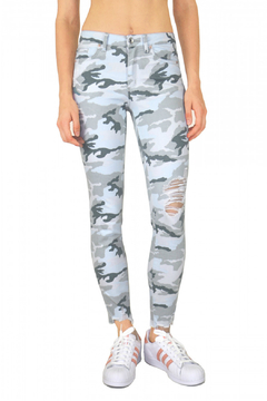 Tractr Midrise Distressed Camo Jean - Product List Image