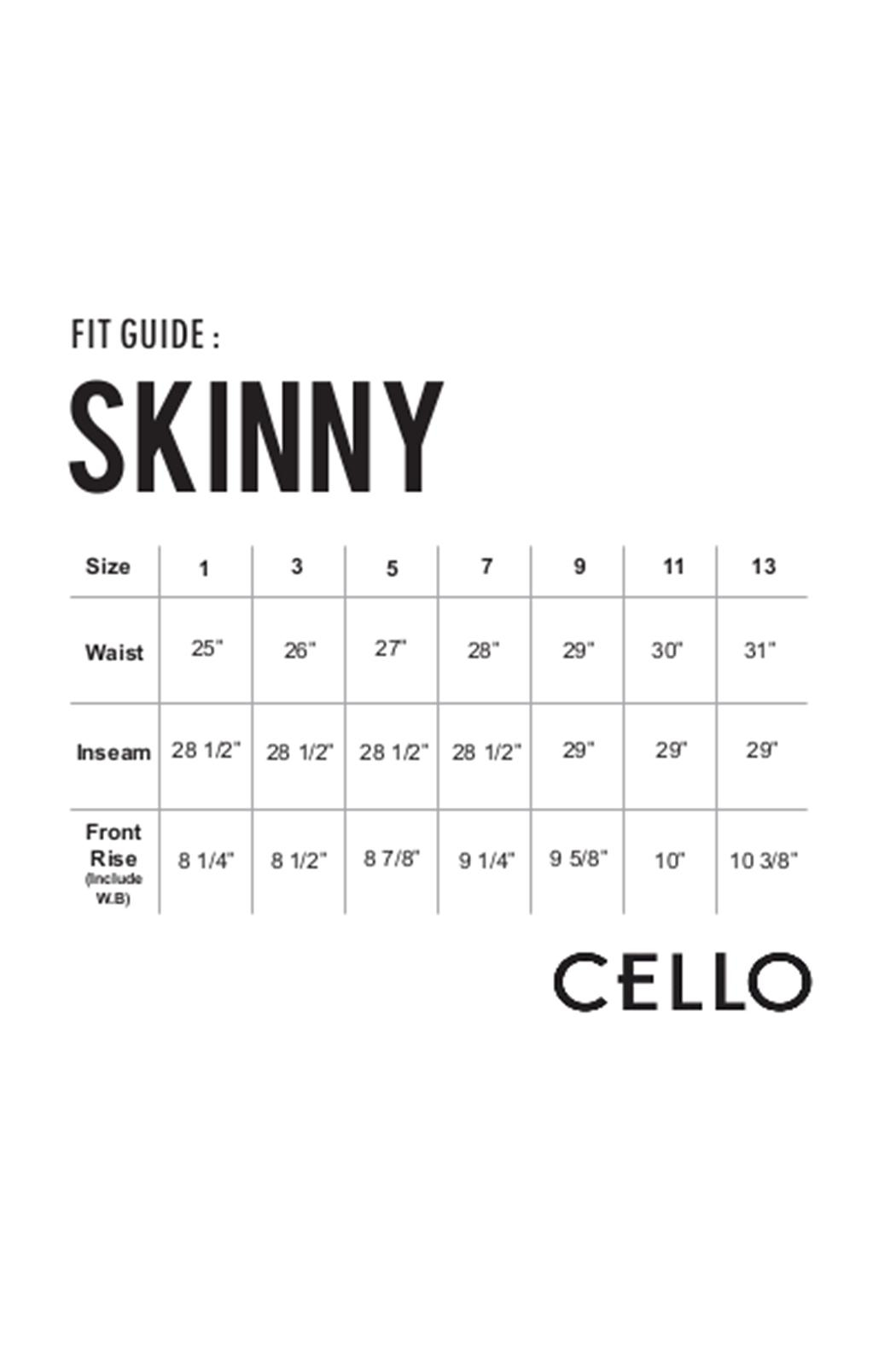 Cello Jeans Midrise Skinny Pant - Back Cropped Image