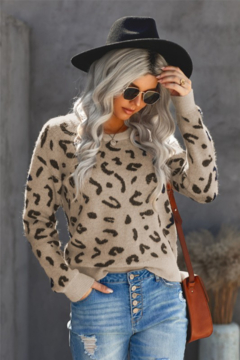 Shewin Midweight Leopard Sweater - Product List Image