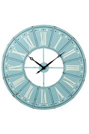 Midwest CBK Blue Statement Clock - Front cropped