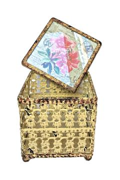 Shoptiques Product: Floral Metal Box