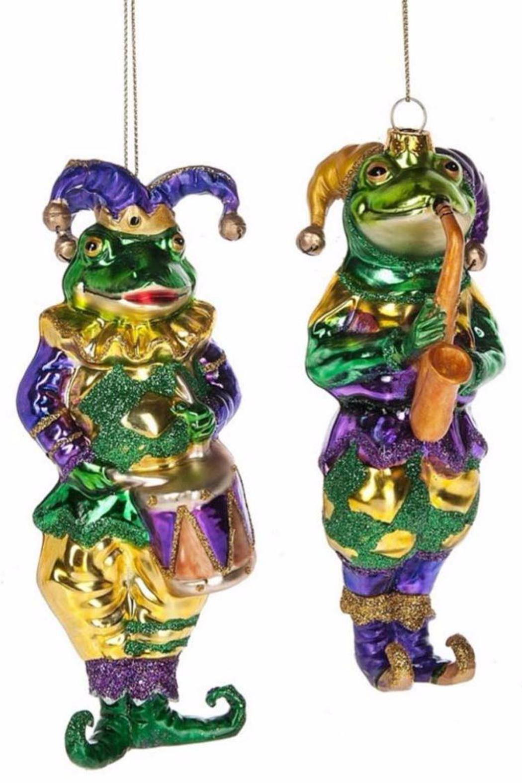 7f3752382d9 Midwest CBK Mardi-Gras Frog Musician-Ornament - Front Cropped Image
