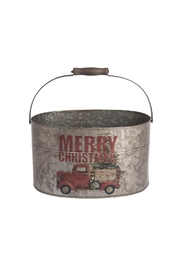 Midwest CBK Merry Chirstmas Pail - Front cropped
