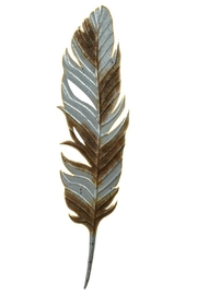 Midwest CBK Metal Feather Decor - Front cropped