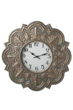 Shoptiques Product: Patina Stamped Clock