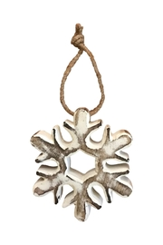 Midwest CBK White Snowflake Ornament - Front cropped