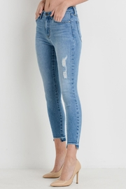 just black Miedum Distressed Denim - Product Mini Image