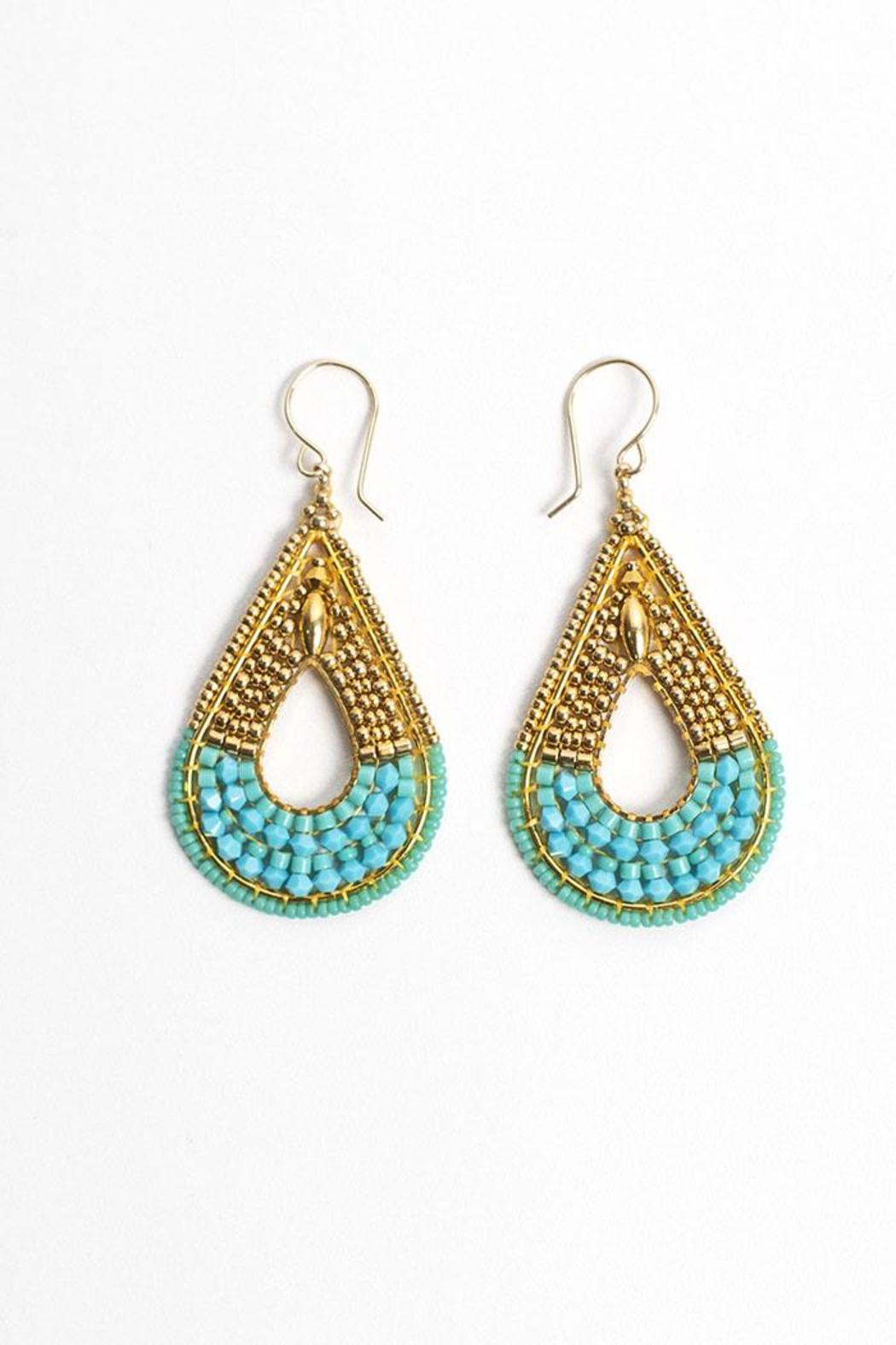 Miguel Ases Turquoise Earrings Front Cropped Image