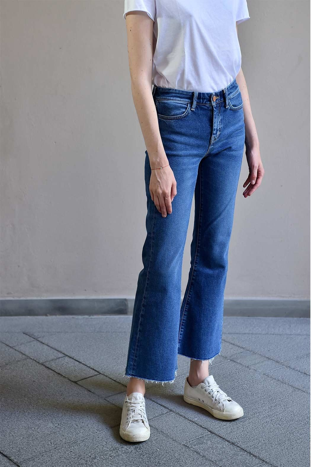 MiH Jeans Cropped Bell Jeans - Side Cropped Image
