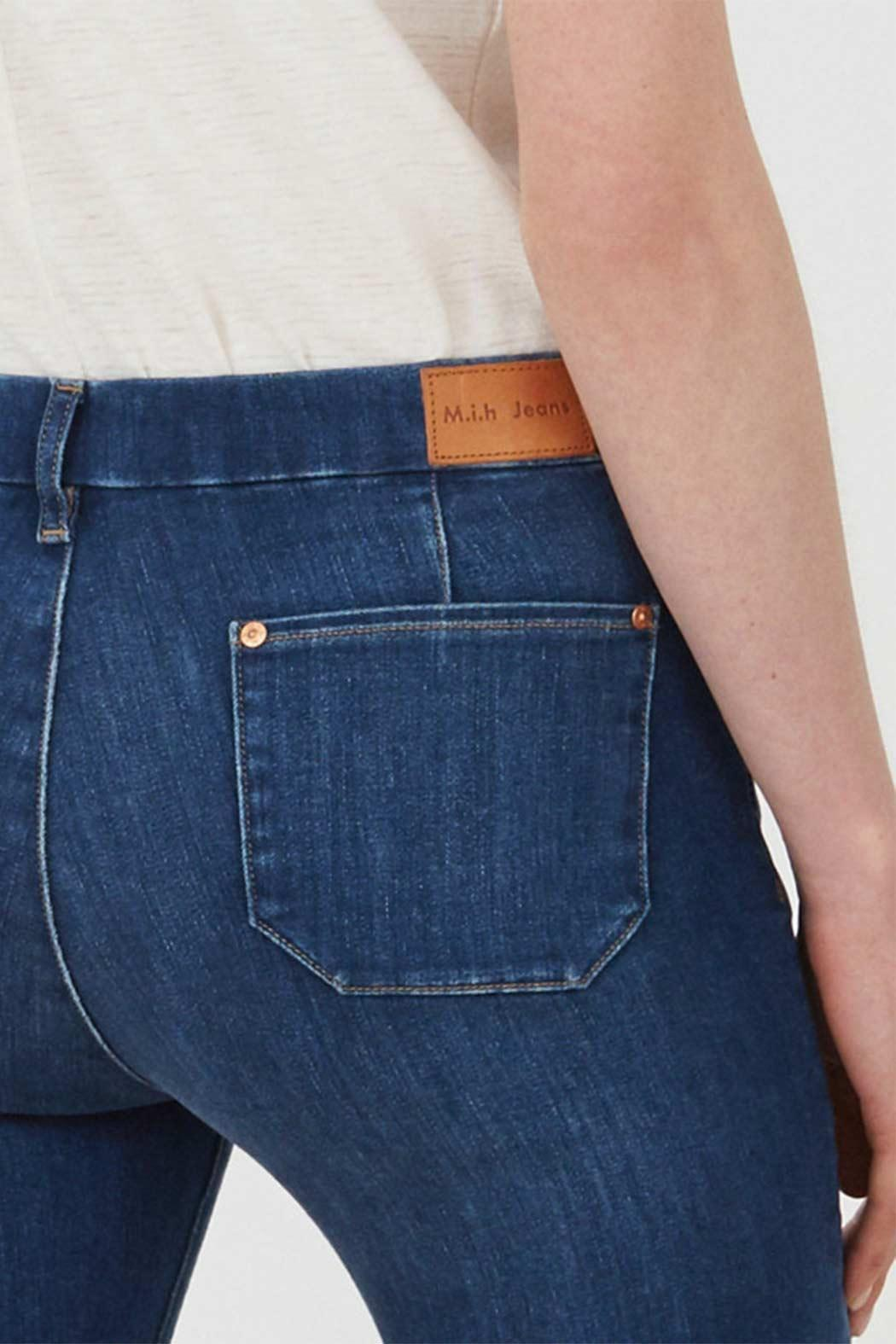 MiH Jeans High Rise Kick Flare Jeans - Back Cropped Image