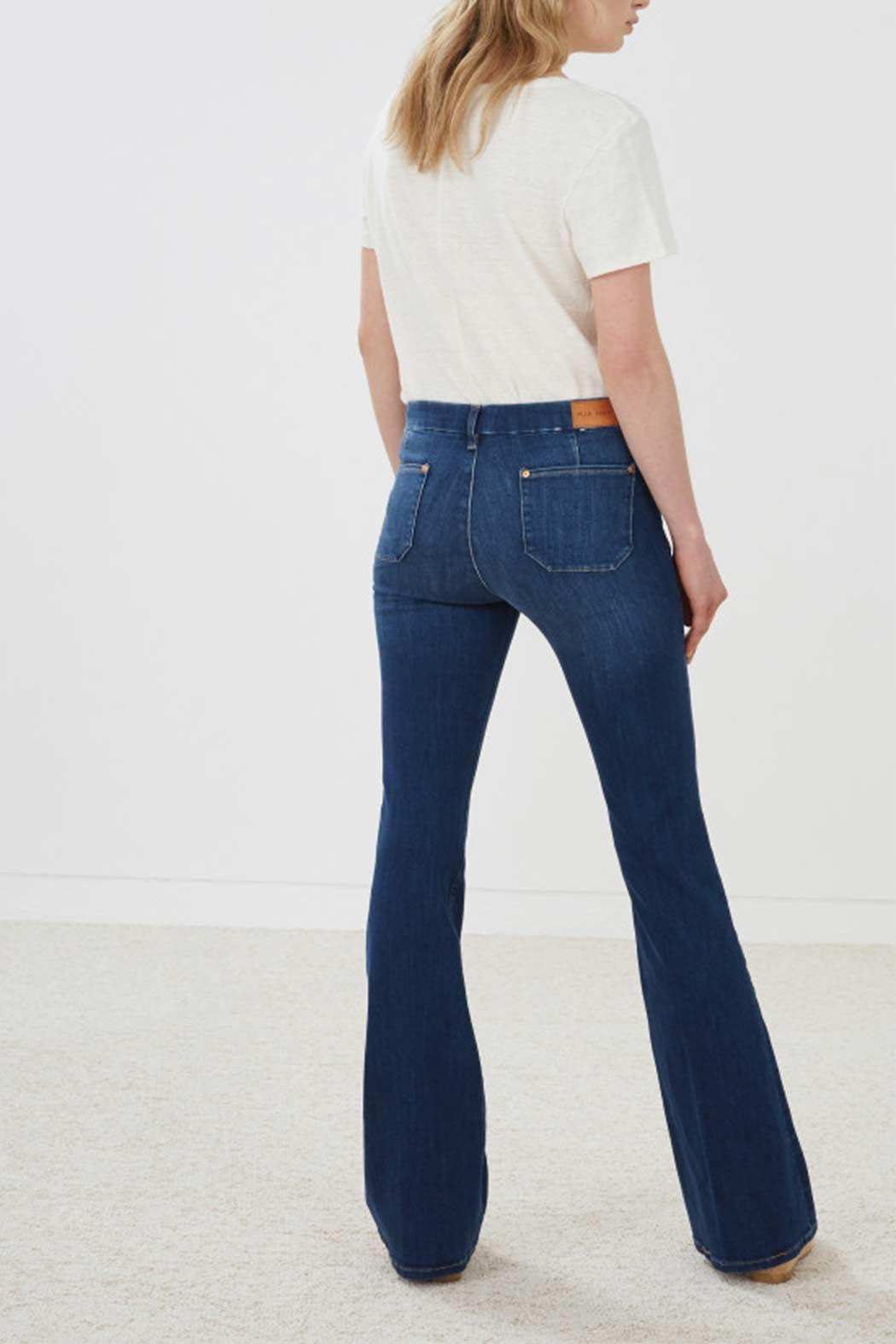 MiH Jeans High Rise Kick Flare Jeans - Side Cropped Image
