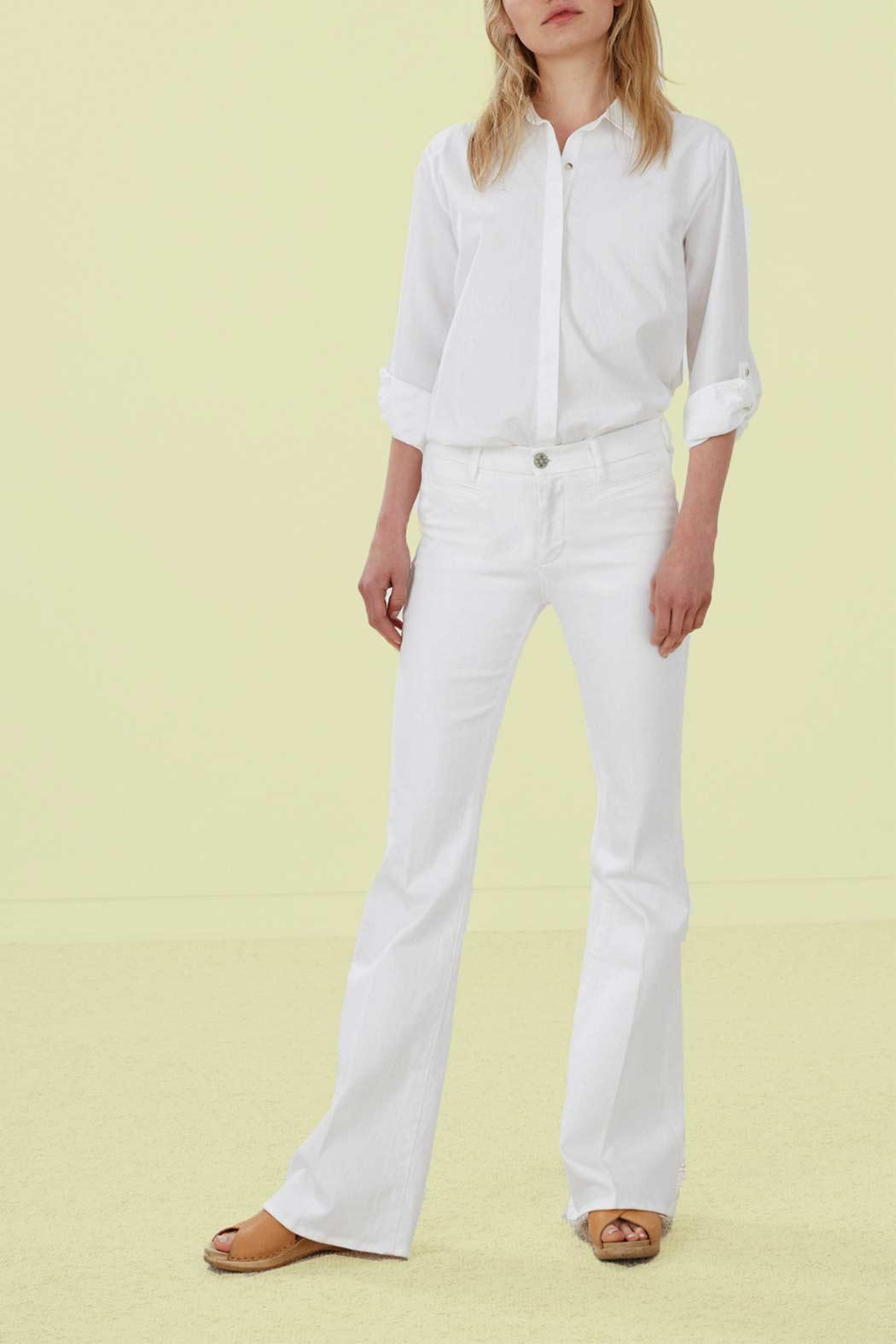 MiH Jeans White Flare Jeans - Main Image