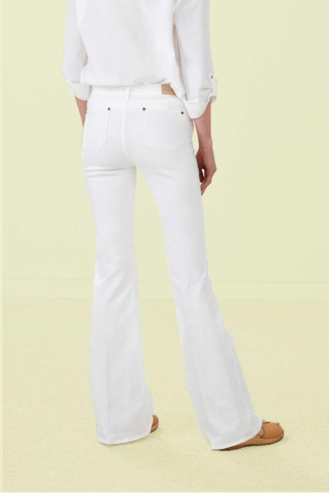 MiH Jeans White Flare Jeans - Front Full Image